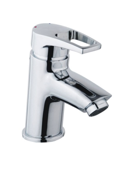 Bristan Smile Basin Monobloc Mixer Tap with Clicker Waste Chrome
