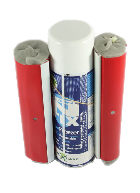 Pipe Freezing Spray 'N' Fix Kit with Spray, Pipe Jackets, Cable Ties-0