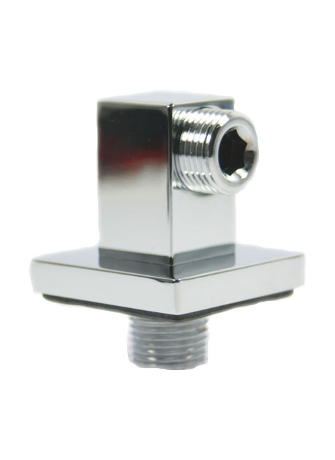 Square Shower Valve Outlet Elbow Chrome Wall Mounted Hose Connector