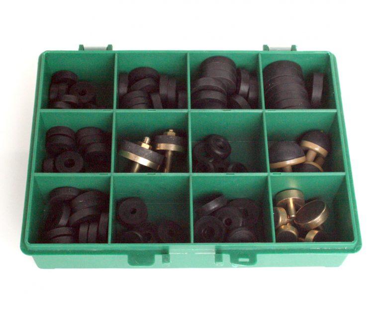 Plumbers Tap Repair Washer Box Green