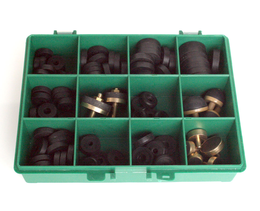 Plumbers Tap Repair Washer Box Green