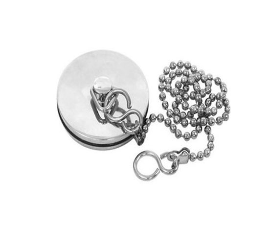 "Chrome Metal Bath Plug 1 ¾"" (18"") with 450mm Chain PRO 690592"