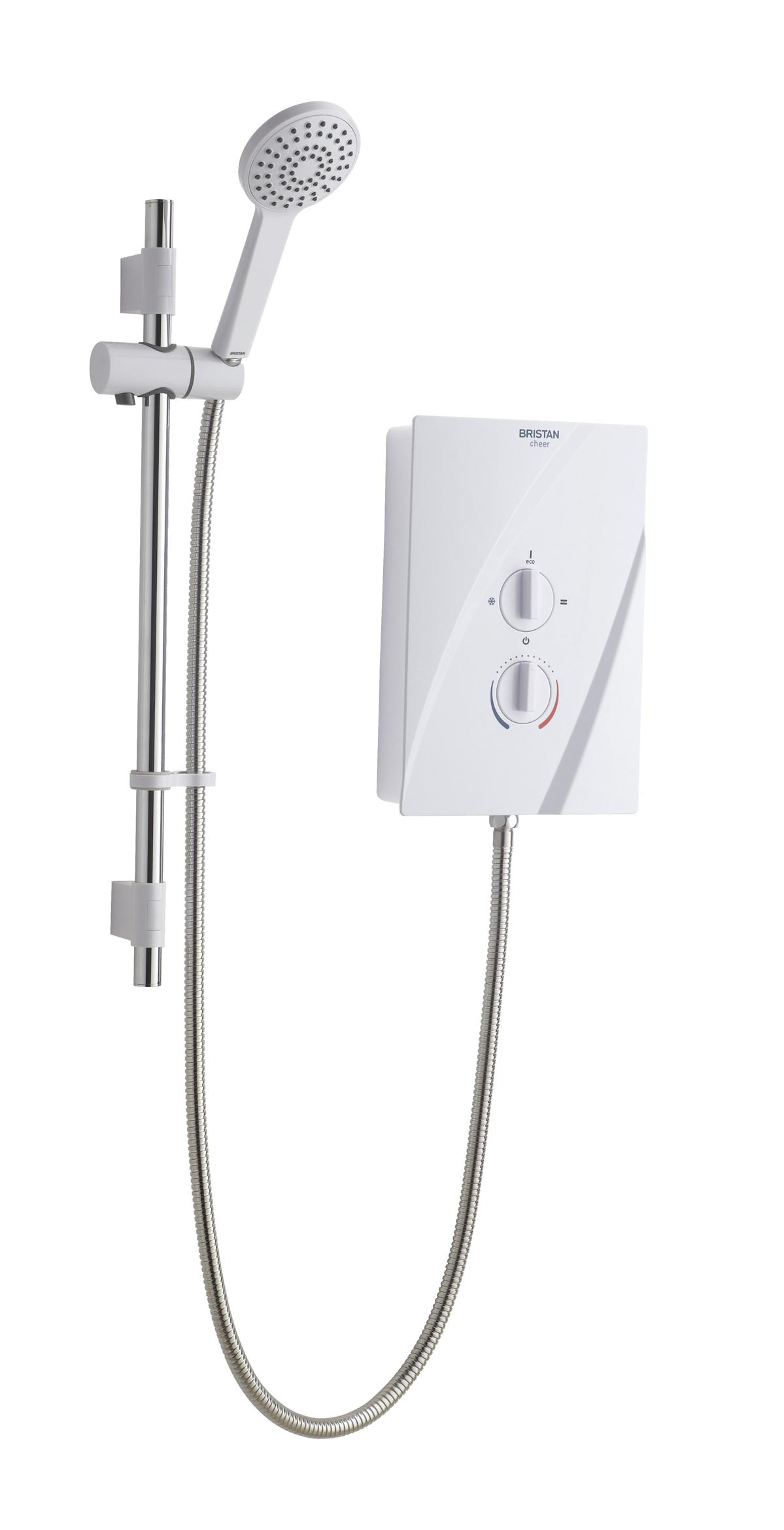 Bristan Cheer Electric Shower 9.5Kw White