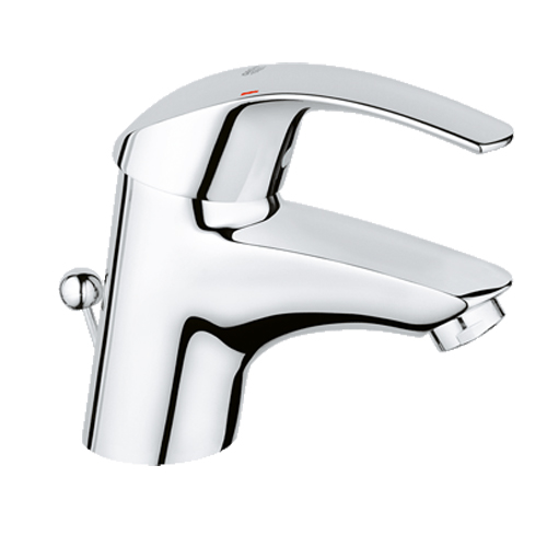 Grohe Eurosmart Monobloc Basin Mixer with Pop up Waste Chrome Finish