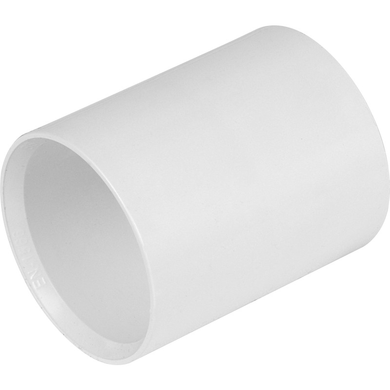 Solvent Weld Pipe Connector 50mm White