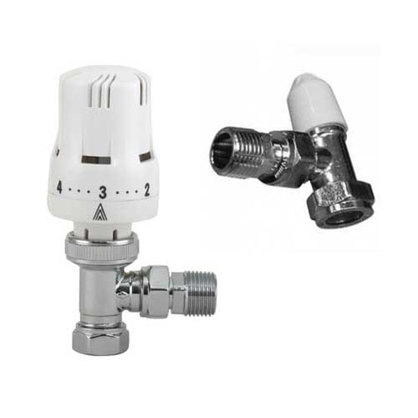 Classic Thermostatic Radiator Valve TRV & Lockshield Pack 15mm